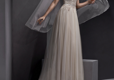 """Sottero and Midgley """"Emsley"""" Light gold colour"""