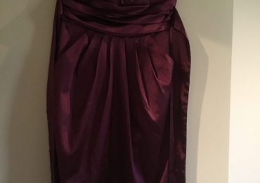 Purple short fitted dress